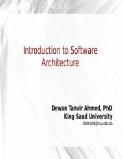 SWE 321-Introduction to SW Architecture
