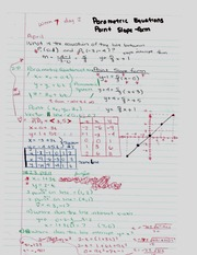 Parametric Equations and Point Slope Form