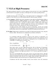 Lecture 7 - VLE at high pressures - Teaching Material