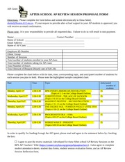1.  After-school AP Review Session proposal and consent form
