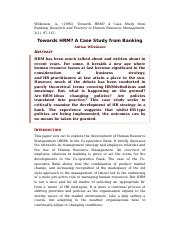 HRM and banking case study.docx