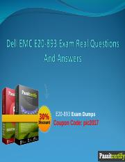 Dell EMC E20-893 Exam Real Questions And Answers.ppt