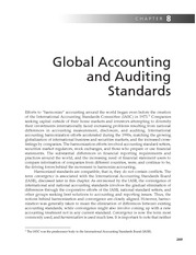 Chapter 8   Global Accounting And Auditing Standards