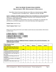 Justin McClary Mgt 301 Self & Peer Evaluation Form(1)