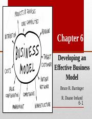 CHAPTER 6 DEVELOPING AN EFFECTIVE BUSINESS MODEL.ppt