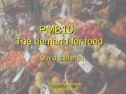 23 - The Demand for Food