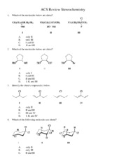 ACS Review 7 Stereochemistry