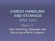 2.5 Planning and control of cargo loading and unloading operations for Bulk Carriers