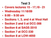 Lecture 22 exam 3 review