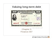 Chapter 5. Valuing long-term debt