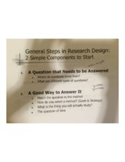 General Steps in Research Design