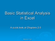 Basic Statistical Analysis In Excel