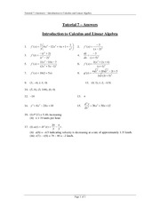 Tutorial 7 Answers