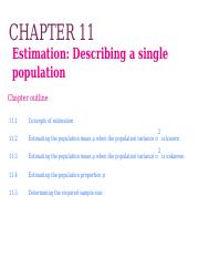 Ch11 Confidence Interval for a single  population_PPT