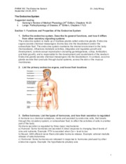 The Endocrine System-NOTES-for Exam