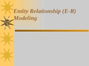 Chap3-Entity Relationship (E-R) Modeling
