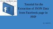 Extraction of JSON Data of Facebook page in PHP