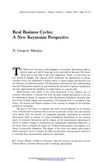 Real Business Cycles A New Keynesian Perspective