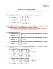 Homework 04 - Answers and Points