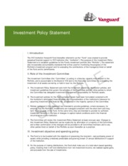 Iamips Sample Investment Policy Statement I Introduction The Xyz