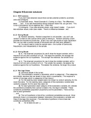 Chapter 8 Exercise solutions Fall2013