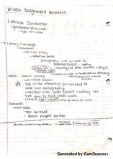 written assignment research notes