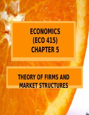 6. ECO 415- Theory of Firm and Market Structures (User's conflicted copy 2019-07-25).pptx