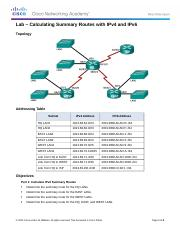 6.4.2.5-Lab-Calculating-Summary-Routes-with-IPv4-and-IPv6