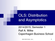 OLS - distribution and asymptotics