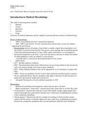 Introduction to Medical Microbiology Lecture notes