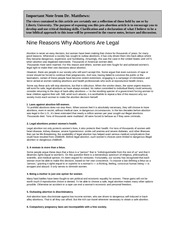RA - Nine Reasons Why Abortions Are Legal