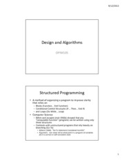 Design and Algorithms