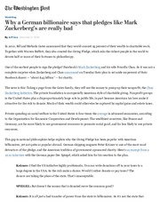 Jeff Guo, Why a German billionaire says that pledges like Mark Zuckerberg's are really bad - The Was