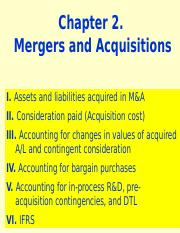 Ch 2. Mergers and Acquisitions(2)