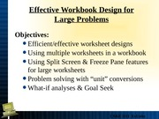 Lecture 5 Large Workbooks