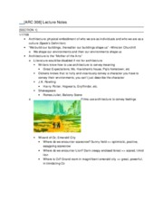 arc notes