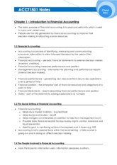 ACCT1501 Study Notes