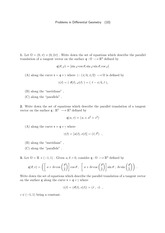 Differential Geometry Problem Set 10