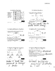 Chemistry 2OA3 Chapter Addition Reactions with Notes