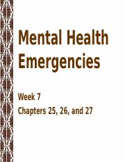 Week 7 Mental Health Emergencies (2)