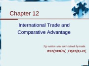 12.International Trade and Comparative Advantage