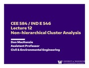 Lecture 12 - Non-hierarchical Cluster Analysis