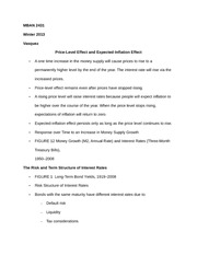 MBAN 2431 Notes on Price-Level Effect and Expected-Inflation Effect