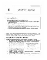 Contract costing (2)