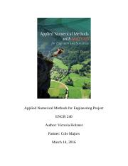 Applied Numerical Methods for Engineering Project