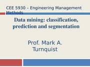 CEE 5930 Data Mining -- Fall 2014
