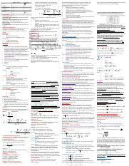 cheat sheet dor usiness statisyic