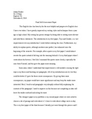 Self-Assessment Examples Essay