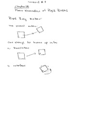 Lecture Notes on Rigid Body Motion