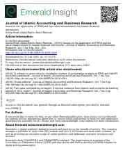 Issues on the application of IFRS9 and fair value measurement for Islamic financial instruments